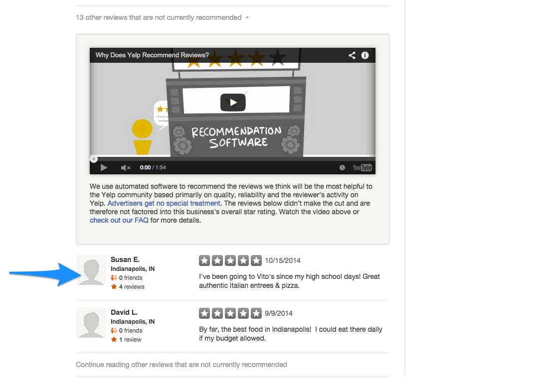 Yelp - Filtered Reviews – ReviewTrackers Support